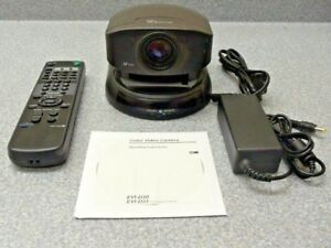 Sony Evi d30 Pan tilt zoom Camera W remote Power Supply Manual On Cd