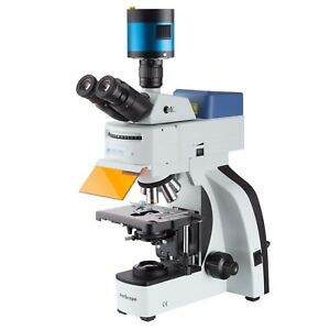 High performance Multi band Led fluorescence Microscope With Cooled 6mp Ccd Imag