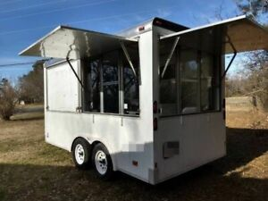 Inspected And Permitted 7 X 16 Mobile Kitchen Food Concession Trailer For Sale