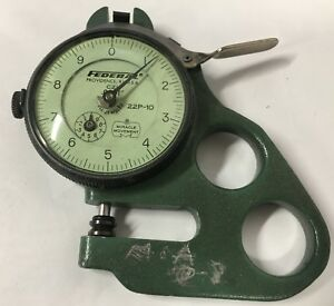 Mahr Federal 22p 10 Dial Thickness Gage 0 10 Range 0001 Graduation