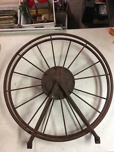 Vintage Antique Metal Wagon Wheel 26