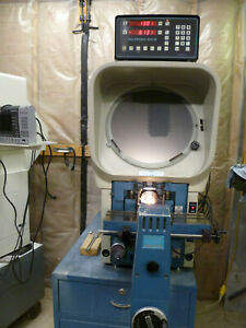 Deltronic Dh14 Optical Comparator With Deltronic 612 r Dro
