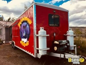 2010 8 6 X 28 Bbq Food Concession Trailer With Porch For Sale In Utah