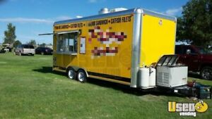 2015 8 5 X 20 Mobile Kitchen Food Concession Trailer For Sale In Texas