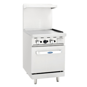 Atosa Range 24 in Gas Range 24 Griddle And 20 Oven Ng lp Ato 24g