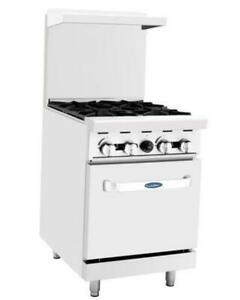 Atosa Range 24 in Gas Range With 4 burner And 20 Oven Ato 4b