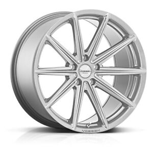 20 Inch Vossen Vfs 4 Gloss Silver 5x4 5 Staggered Whees Rims New