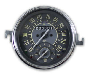 Vw Bug Bus Ghia Isp 120 Mph Speedometer W Combo 8k Tachometer Beige Numericals
