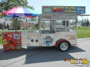 6 5 X 15 All Stainless Hot Dog Cart Trailer For Sale In California