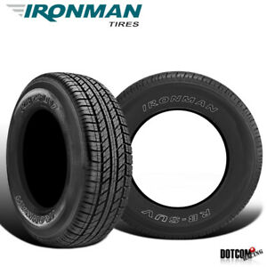 2 X New Ironman Rb Suv 255 70r17 112t All Season Traction Tire