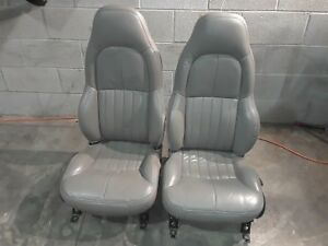 97 00 Corvette C5 Standard Seat Set Grey Seats Aa6375