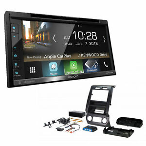 Kenwood Double 2 din Car Stereo Radio Sirius xm Install Package For Ford Trucks