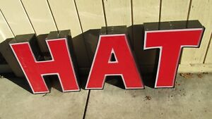 Large Red Led Letters 10 Big Outdoor Letters Words sit Chat Hat Cat Words