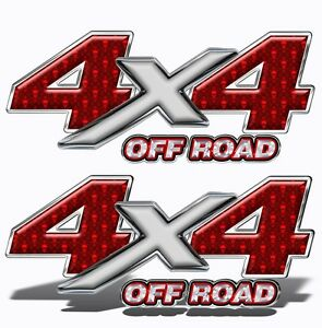 4x4 Off Road Decals 2 Truck Side Decals vinyl Graphics Red Devils Mk007or4sx