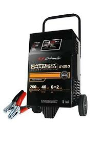 Rolling Battery Charger Booster Wheeled Heavy Duty 12 V 200 Amp Farm Truck Car