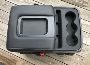 Chevy Silverado 14 15 16 17 18 Front Center Console Jump Seat Black Oem Nice