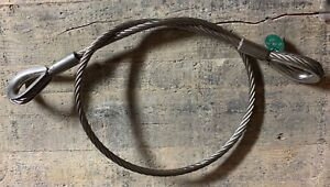Choker Sling Wire Rope Steel Cable Reinforced Flemished Eye 1 2 X 5 Rigging