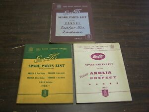Oem English Ford Master Parts Book Lot 1948 1954 Anglia Zepher Six Zodiac Thames