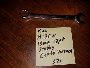 Mac M13cw 13mm 12pt Stubby Combination Wrench 371