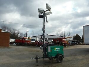 2011 Magnum Mlt3060k Towable 23 Ft Light Tower Generator W Kubota Diesel