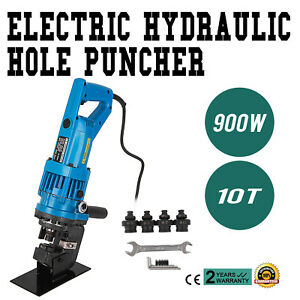 900w Electric Hydraulic Hole Punch Mhp 20 With Die Set 10t Press Metal Pro