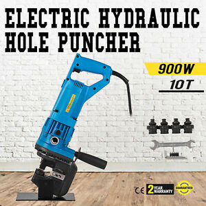 900w Electric Hydraulic Hole Punch Mhp 20 With Die Set 10t Sheet Metal Newest