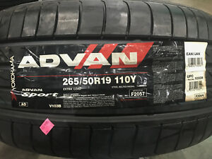 4 New 265 50 19 Yokohama Advan Sport Tires