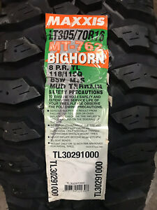 4 New Lt 305 70 16 Lrd 8 Ply Maxxis Bighorn Mt 762 Mud Tires