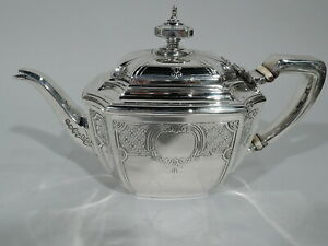 Tiffany Hampton Teapot 18389d Antique Engraved American Sterling Silver