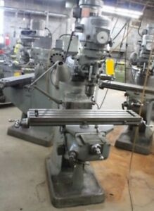 Bridgeport Milling Machine 1 1 2 Hp 9 x42 Table Variable Speed