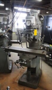 Bridgeport Milling Machine 1 1 2 Hp 9 x42 Table