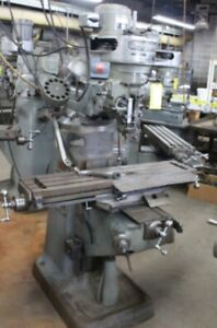 Bridgeport Milling Machine 1 hp 9 x42 Table