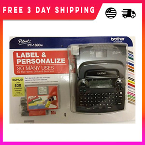 Brother P touch Pt 1890w Labeler 2 Tapes Thermal Machine Label Printer Maker