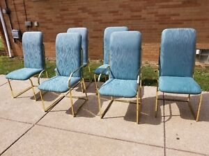 Design Institute Of America Dia Brass Frame Dining Chairs Set Of 6