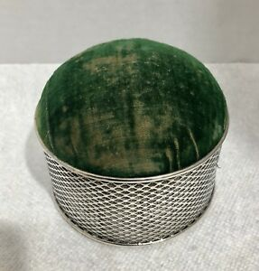 Goodnow Jenks Sterling Silver Velvet Pin Cushion