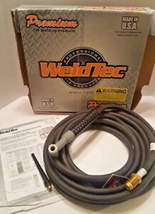 Weldtec 25 Cable Tig Welding Torch Air Cooled Wt 17v 25r Weld Tec Welders Tools