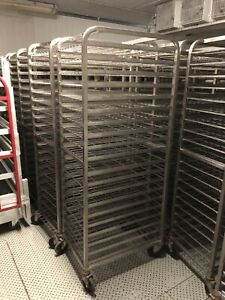 Stainless Steel Food Processing Racks On Wheels