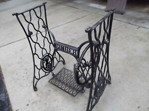 Vtg Antique Singer Treadle Sewing Machine Cast Iron Base Only Pick Up Nw Chicago