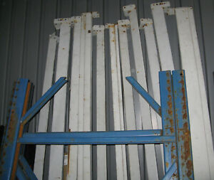 Teardrop Pallet Racking 4 Uprights 80 14 Cross Beams 8 And 8 5 No Decking