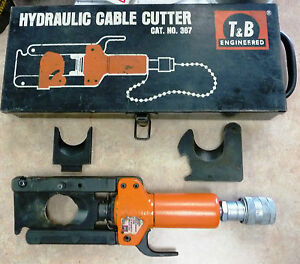 Thomas Betts T b 367 Hydraulic Cable Cutter 1 6 Cap With New 367b Blade Set