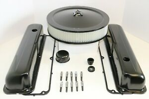 Ford Fe Black Engine Dress Up Kit Tall Valve Covers Air Cleaner 58 79 390 427