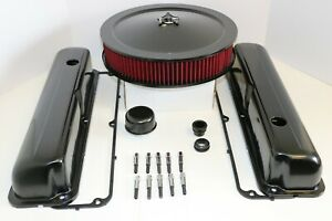 Ford Fe Black Engine Dress Up Kit Tall Valve Covers Washable Air Cleaner 390 427