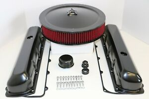 Oldsmobile Black Engine Dress Up Kit Valve Covers Red Washable Air Cleaner 455