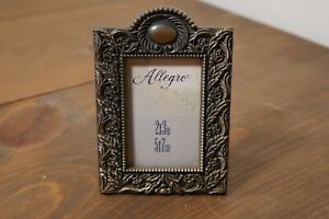 Small Vintage Antique Picture Frame Ornate Metal