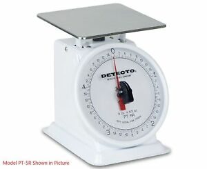 Detecto Pt 2r Rotating Dial Top Loading Scale 32 Oz Capacity