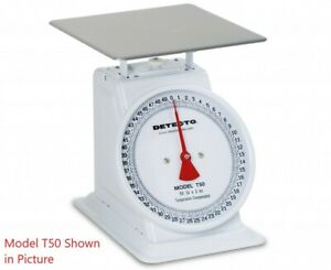 Detecto T50 Fixed Dial Top Loading Scale 50 Lb Capacity