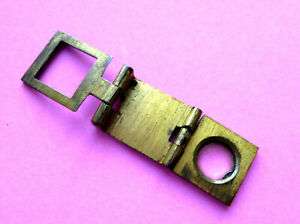 Antique Sewing Brass Folding Thread Cunter With Magnify Glass