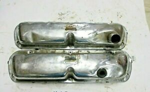 1965 1966 Mustang 260 289 302 351w V8 Valve Cover Pair Chrome