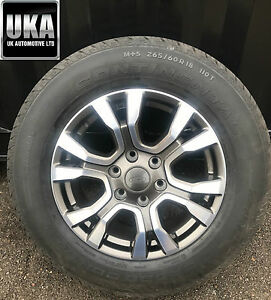 Ford Ranger Wildtrak Borbet Alloy Wheel And Tyre M s 265 60 R18 X1 Spare Single