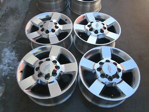 20 Chevy Gmc 2500 Hd 3500 Hd Oem Factory Polished Wheels Rims Chevy Caps